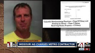 Concrete contractor facing six felony charges - Video