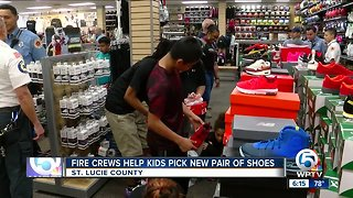St. Lucie County firefighters helping kids get new shoes