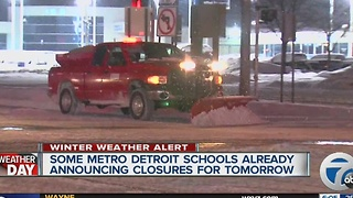 Schools already closing - Video