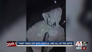 Family car stolen with Christmas presents for 9 children inside - Video