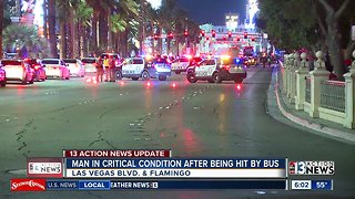 Man hit by bus on LV Strip | Breaking news