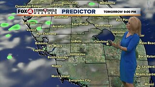 Mainly dry and warm through Wednesday
