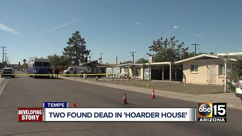 Two found dead in 'hoarder house' in Tempe