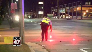 Lansing man in hospital after being hit by car late Sunday night - Video