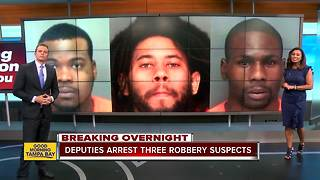 Three suspects arrested in Pinellas County gas station armed robbery spree - Video