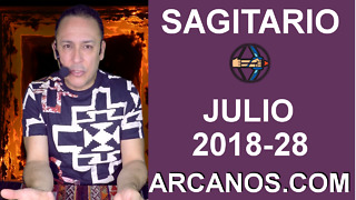 HOROSCOPO SAGITARIO-Semana 2018-28-Del 8 al 14 de julio de 2018-ARCANOS.COM - Video