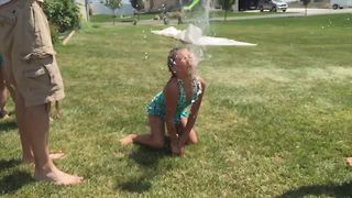 """""""Toddlers vs Water Balloons!! 