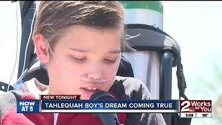 Wish granted for Tahlequah boy on hospice - Video