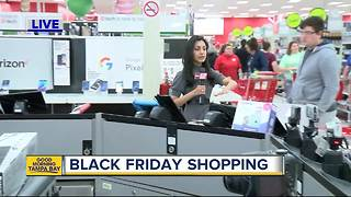 Black Friday shopping underway at Target