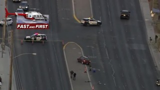 Person hit by car near Craig, Nellis - Video