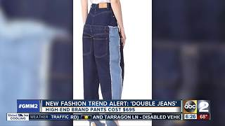 New fashion trend 'double jeans' making waves - Video