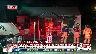 Tulsa fire crews investigating cause of early morning house fire