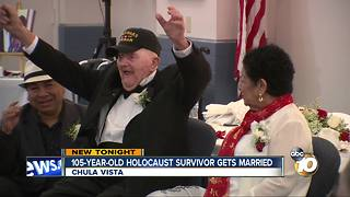 105-year-old Holocaust survivors gets married - Video
