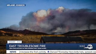 New evacuation orders as East Troublesome Fire grows