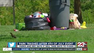 Trashy 4th of July Aftermath in Bakersfield - Video