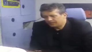 Mehdi Hashmi in his father's funeral - Video