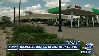 Businesses looking to cash in on Solar Eclipse - Video