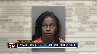 Woman busted selling fake Busch Gardens tickets - Video