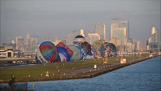 Hot Air Balloon regatta takes off from London City Airport - Video