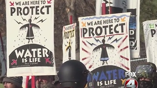 North Dakota access pipeline protesters facing charges - Video