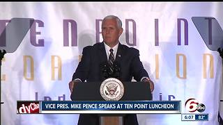 VP Pence: Ten Point Coalition 'literally works miracles' - Video