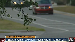 Polk County deputies looking for driver who seriously injured 12-year-old in hit & run - Video