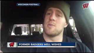 JJ Watt wishes the Badgers good luck heading into Satuday's game - Video