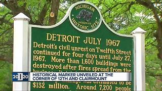 City marks 50th anniversary of Detroit riots at 12th and Clairmount - Video