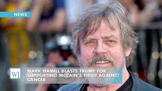 Mark Hamill Blasts Trump For Supporting McCain's Fight Against Cancer - Video