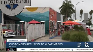 Encinitas business owner says some customers still refuse masks