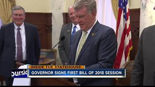 Governor Otter signs first bill of the 2018 Legislative Session - Video
