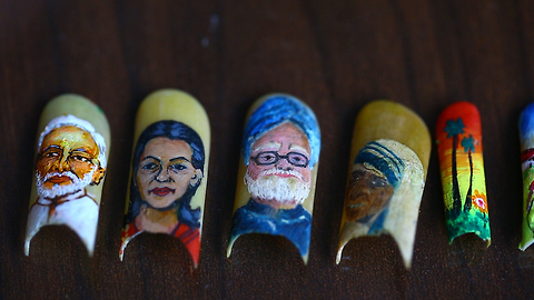 Artist Paints Stunning Portraits On His Fingernails: MAKING MAD