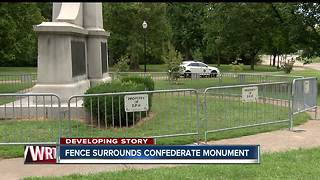 Gate now surrounds Confederate monument at Garfield Park after vandalism - Video