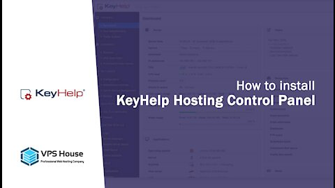 [VPS House] How to install KeyHelp Web Hosting Control Panel?