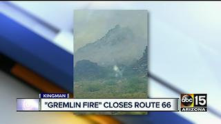 'Gremlin Fire' sparks near Kingman - Video