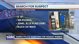 Nampa Police looking for masked robber
