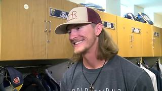 Brewers relief pitcher Josh Hader has fans drinking the Hader-ade - Video