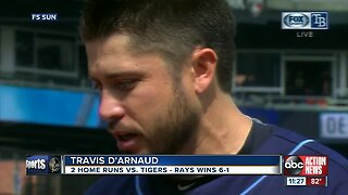 Travis D'Arnaud homers twice, leads Tampa Bay Rays to 6-1 win over Detroit Tigers