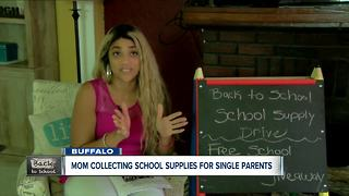 Single mom collects school supplies for children in need - Video