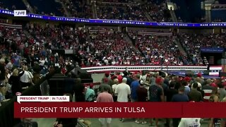 Campaign Officials say smaller crowd for rally due to protesters, media coverage
