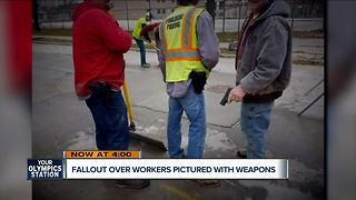 Milwaukee subcontractors pictured with weapons