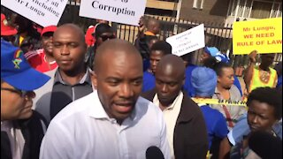 WATCH: Stand off as Maimane speaks at Zambian High Commission (pXz)