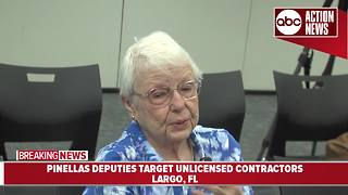 90-year-old victim of unlicensed contractor speaks out after contractor arrested - Video