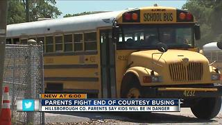 Parents fight end of courtesy busing - Video