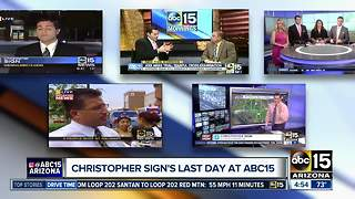 Friday is Christopher Sign's last day on ABC15 Mornings - Video