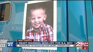 Heart-warming send-off for Broken Arrow boy - Video
