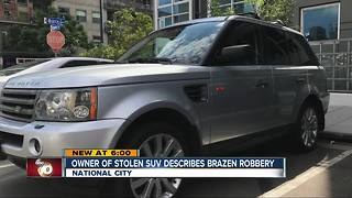 Owner of stolen SUV describes robbery that led to pursuit, shooting - Video