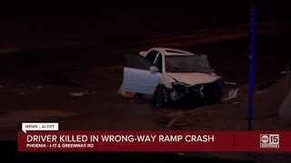 Driver killed in wrong-way collision near I-17 and Greenway