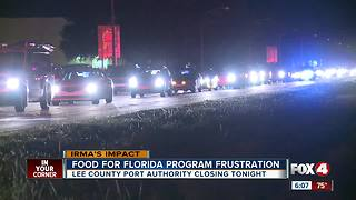 Gridlock temporarily closed traffic to Food For Florida event - Video