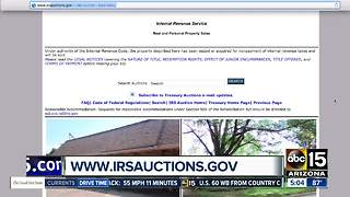 Get great deals at IRS auctions - Video